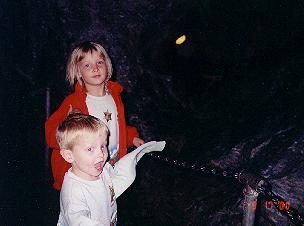 Jonathan and Victoria in Linville Caverns