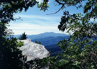 Grandfather Mountain as seen from Blowing Rock